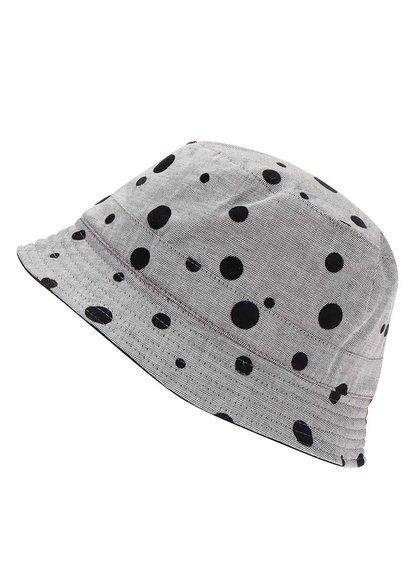 Icon Brand Pălărie Reversibilă cu Buline Gri și Negru