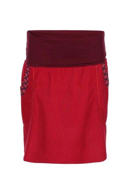 Červená sukňa s vreckami Tranquillo Isolde