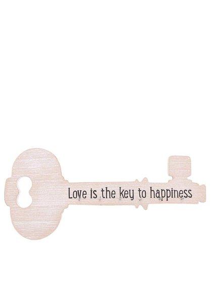 Vešiak na kľúče v tvare kľúča Sass & Belle
