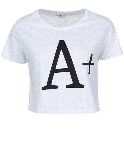 Světle šedé žíhané dámské triko ZOOT Originál A +