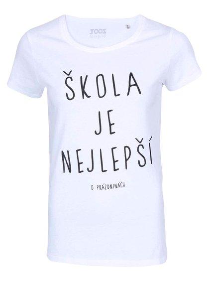 Biele dámske tričko ZOOT Originál Škola je nejlepší
