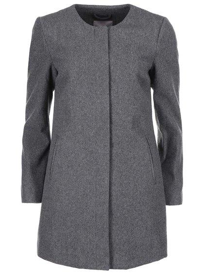 Šedý dlhší kabát VERO MODA Louise Daisy