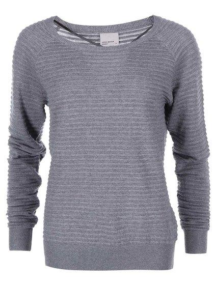 Sivý vrúbkovaný sveter VERO MODA Forever