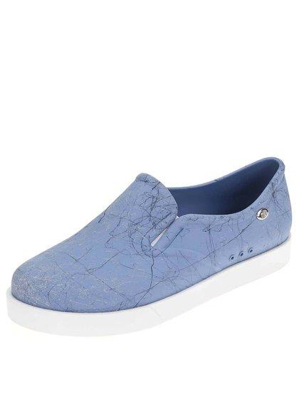 Pantofi slip-on din plastic Mel Kick - albastru