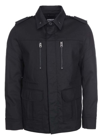 Čierna bunda s vreckami Shine Original