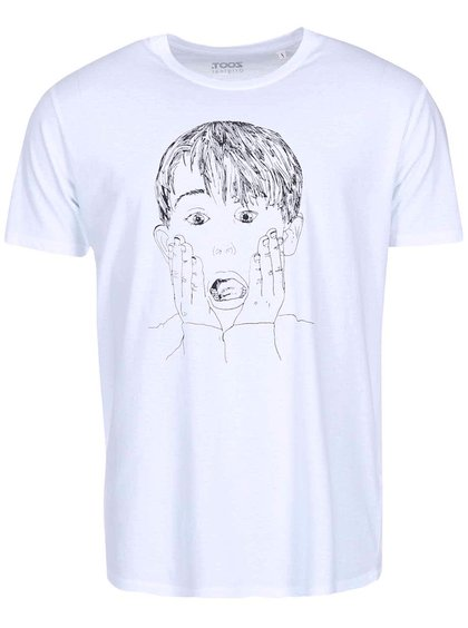 Tricou ZOOT Original Home Alone alb bărbătesc