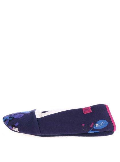 Tmavě modré papuče s květy Tom Joule Dreama