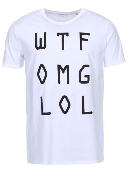 Bílé pánské triko ZOOT Originál WTF OMG LOL