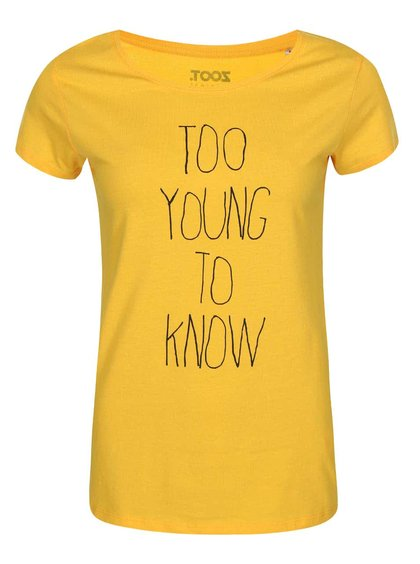 Tricou galben ZOOT Original Too Young to Know
