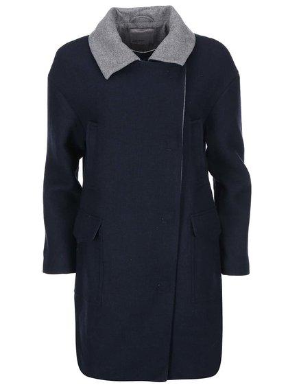 Palton bleumarin cu guler gri Vero Moda Malene