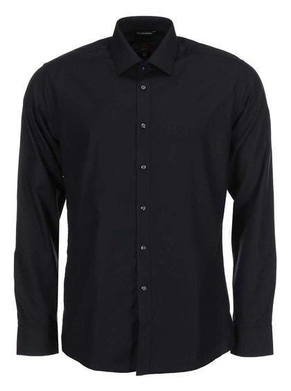 Černá slim fit košile Seven Seas Fine Twill