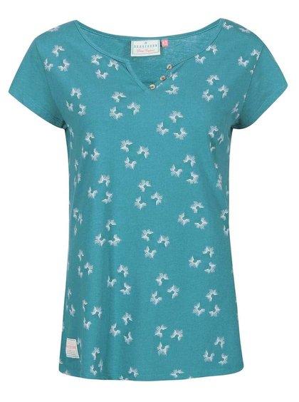 Zelenomodré dámské tričko s chmýřím z pampelišek Brakeburn Vintage Dandelion