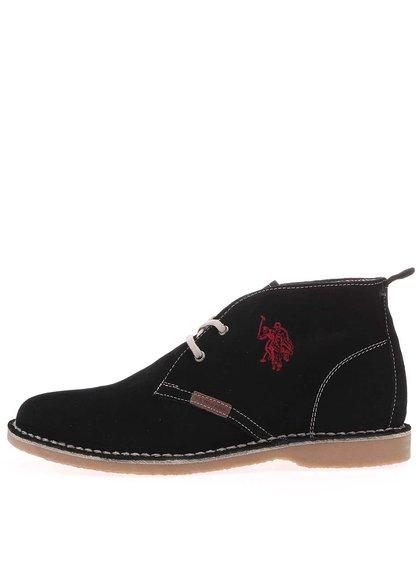 U.S. Polo Assn. Pantofi de damă din piele până la gleznă Glenda3 - negru