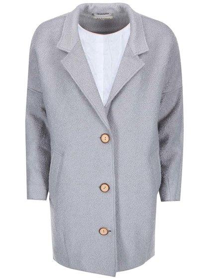 Světle šedý dámský delší kabát Desires Love