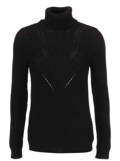 Čierny pletený sveter so vzorom VILA Lilla