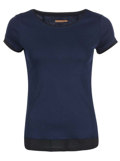 Tmavě modré triko s černými lemy Skunkfunk Roese