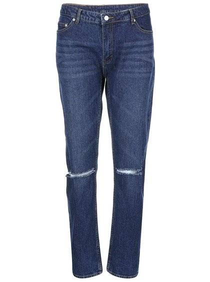 Jeanși de damă Rewind Rip albaștri drepți Cheap Monday