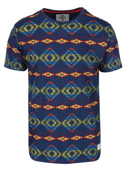 Modre pánske tričko s farebnými vzormi Bellfield Navajo