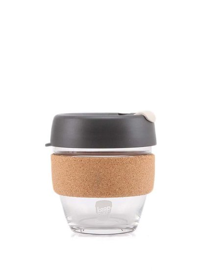 Dizajnový cestovný sklenený hrnček KeepCup Brew Press Small