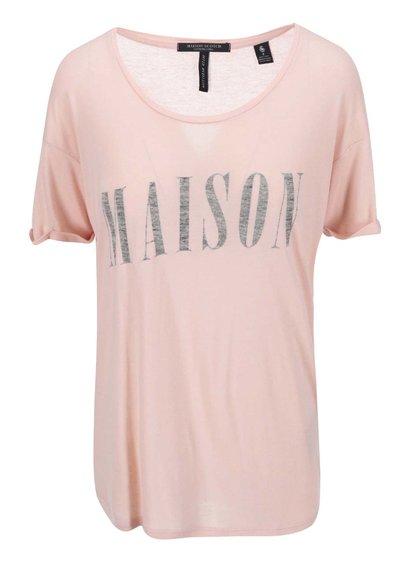 Tricou de damă cu imprimeu Maison Scotch - roz