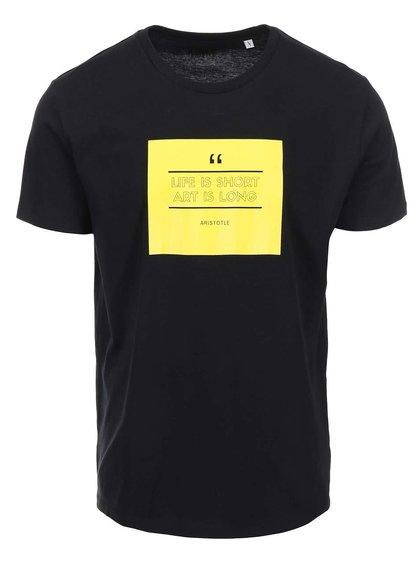 Čierne pánske tričko ZOOT Originál Art Is Long