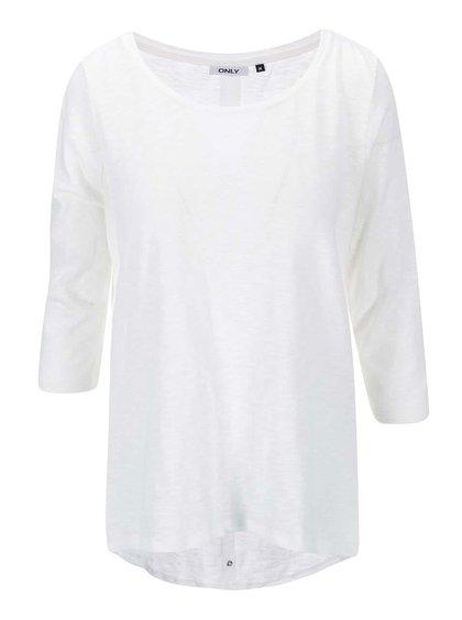 Tricou alb ONLY Casa cu mâneci 3/4