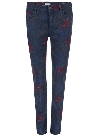 Jeanși skinny albaștri cu imprimeu frunză Roxy Suntrip