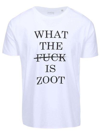 Tricou bărbătesc ZOOT Original WTF alb
