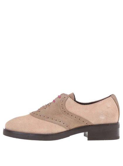 Pantofi bej Oxford din piele OJJU