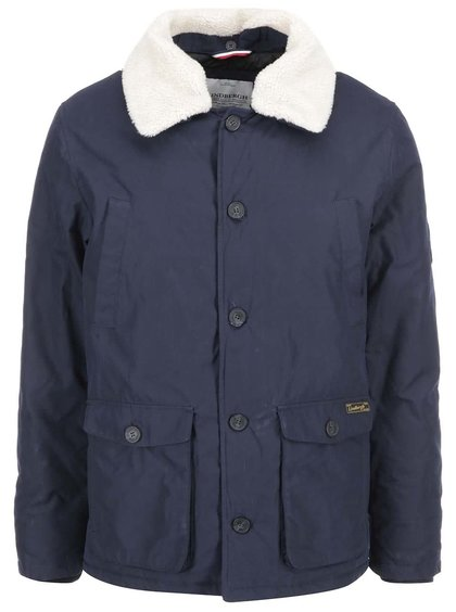 Jachetă bleumarin bărbați Lindbergh cu guler de blană