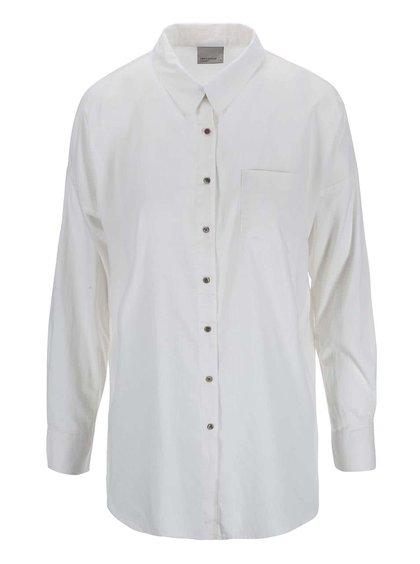 Krémová košile s rozparky VERO MODA Classic