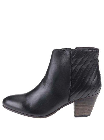 Černé kožené kotníkové boty ALDO Cadosein