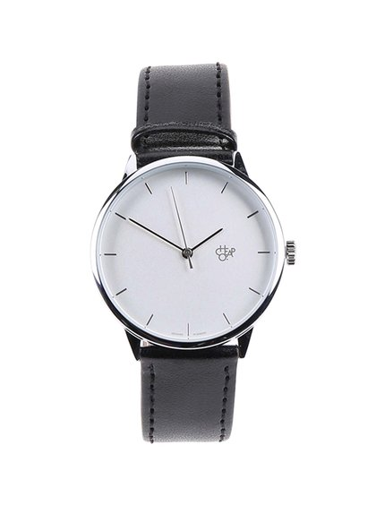 Ceas negru CHPO Khorshid Silver unisex