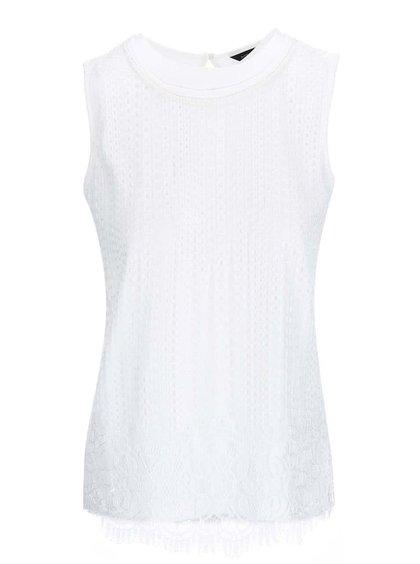 Bluză din dantelă Dorothy Perkins - alb