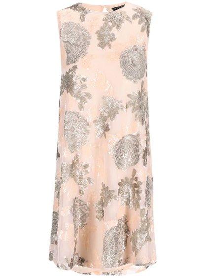 Marhuľové šaty s flitrovou aplikáciou Dorothy Perkins