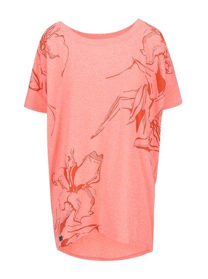 Tricou de damă supradimensionat Funstorm Darra - roșu corai
