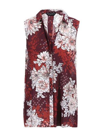 Bluză cu imprimeu floral Dorothy Perkins - vișiniu