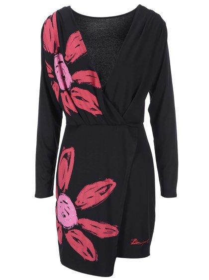 Rochie cu imprimeu negru Repli Desigual