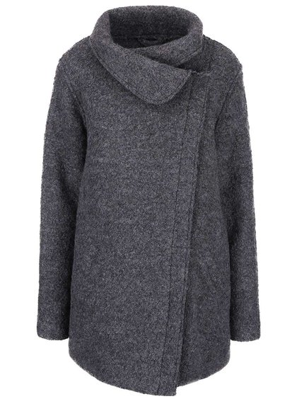Tmavo sivý kabát ICHI Tinju