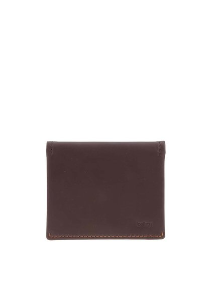 Tmavě hnědá kožená peněženka Bellroy Slim Sleeve