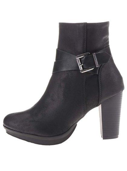 Černé kotníkové boty na vyšším podpatku La Push