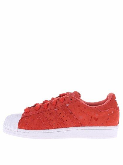 Červené dámské tenisky adidas Originals Superstar