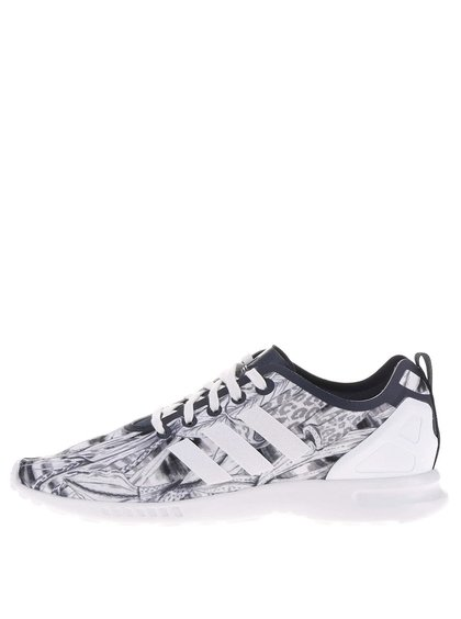 Bílo-šedé dámské vzorované tenisky adidas Originals ZX Flux