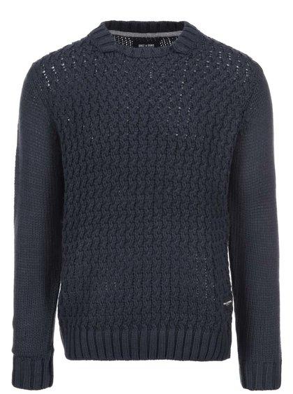 Tmavomodrý sveter ONLY & SONS Kole