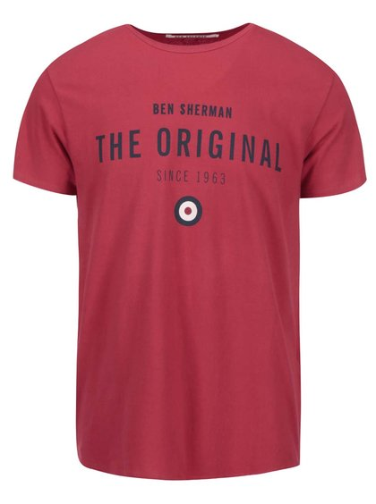 Červené tričko s nápisom The Original Ben Sherman