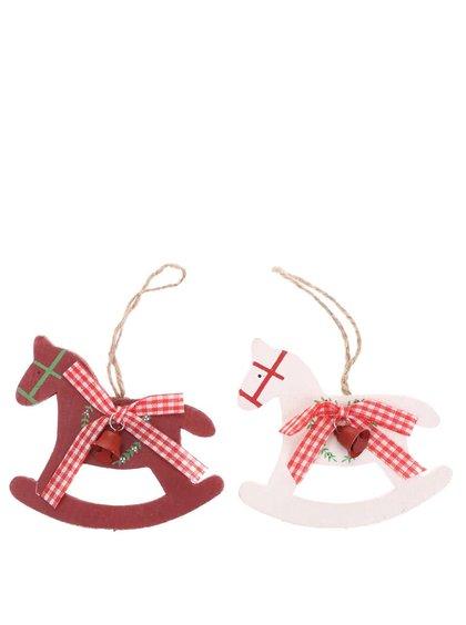 Sass & Belle Set de două decorațiuni în formă de căluț balansoar