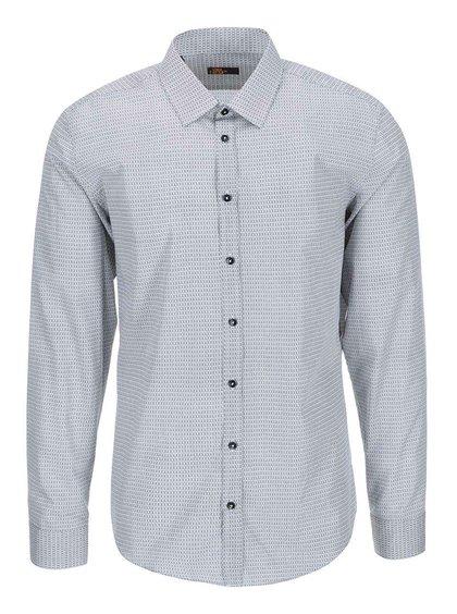 Bielo-čierna vzorovaná košeľa Seidensticker Kent 98