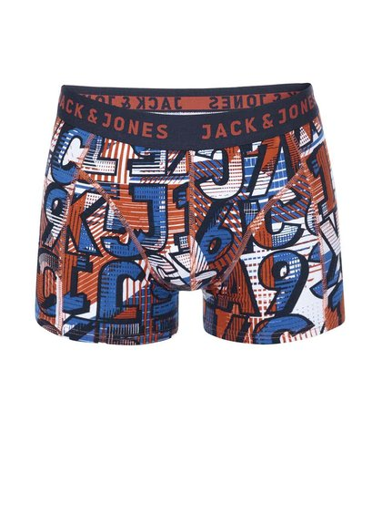 Modro-červené boxerky se vzorem Jack & Jones Logo
