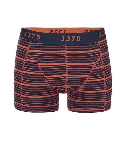 Oranžovo-modré boxerky s pruhmi Jack & Jones Stripe