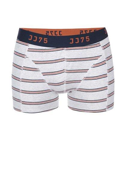 Světle šedé boxerky s barevnými pruhy Jack & Jones Thin